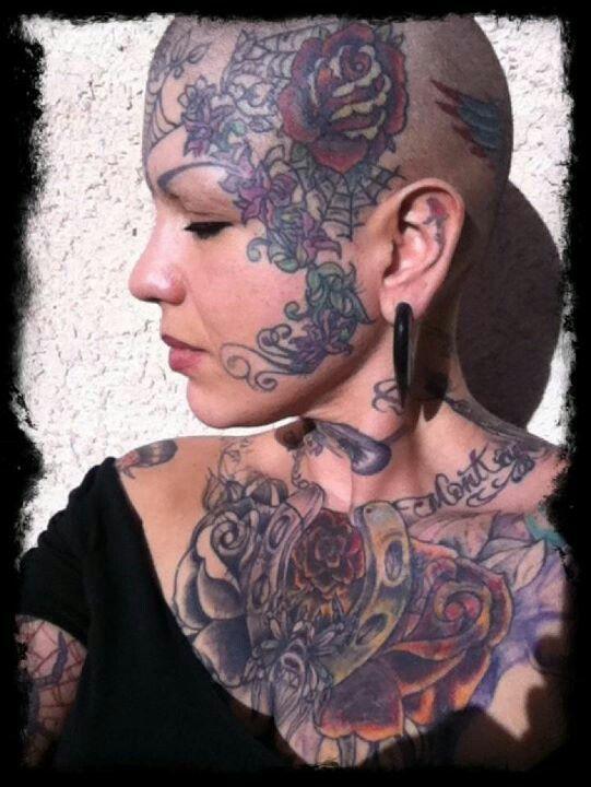 on Facial girls tatoo