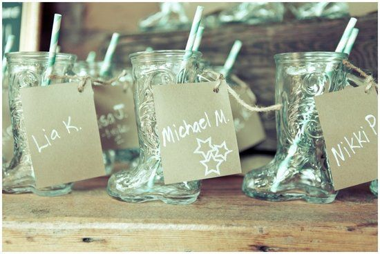cowboy boot mugs photo by photographs by anjuli via style me pretty