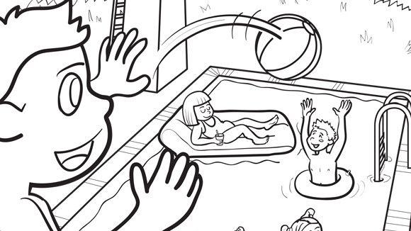 summer series pool fun  week 1  coloring pages cool