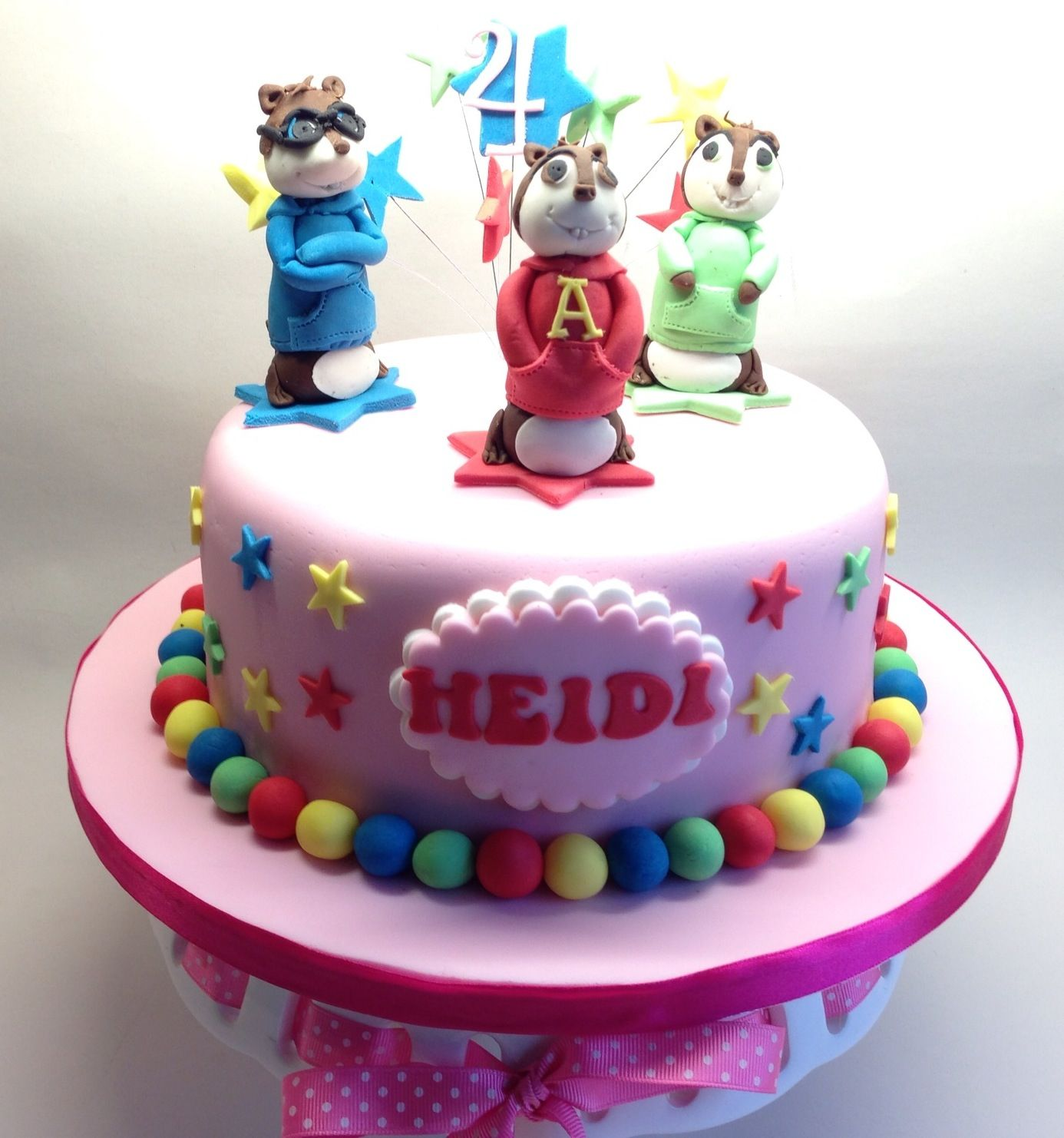 Alcon And The Chipmunks Cake Character Cakes Birthday Cake
