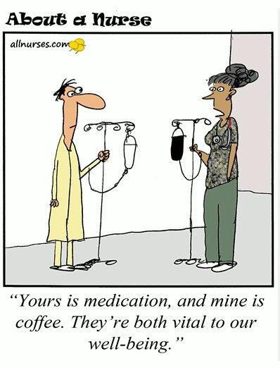 Coffee Iv Drip Meme : coffee, Nurse, Patient, Jokes,, Humor,