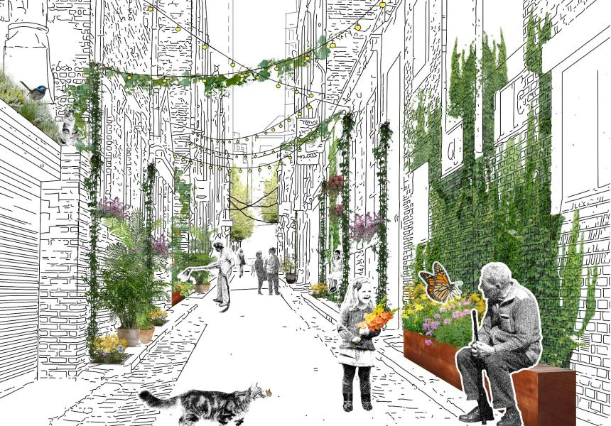 Image result for melbourne laneways architecture collage