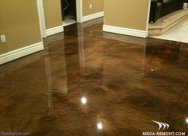 Decorative concrete stains and epoxy coatings epoxy floor for Concrete floor upstairs