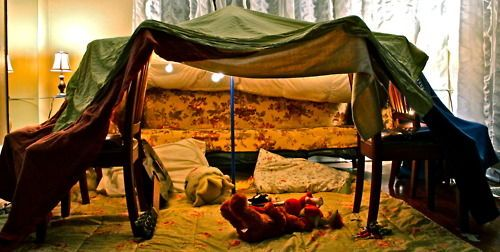 Sheet forts and indoor campaign, Source: Pinterest