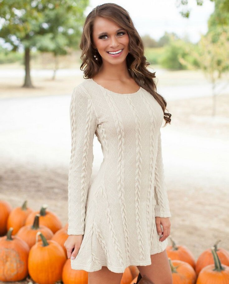 Fashion long-sleeved sweater dress   L761203