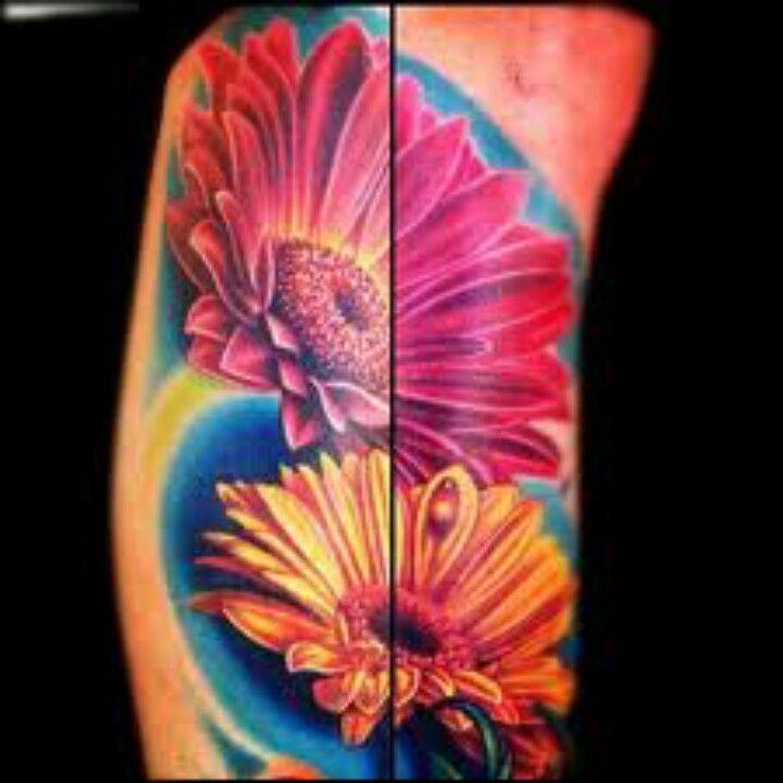 Gerber Daisy Tattoo Daisy Tattoo Flower Tattoo Shoulder Gerbera Daisy Tattoo