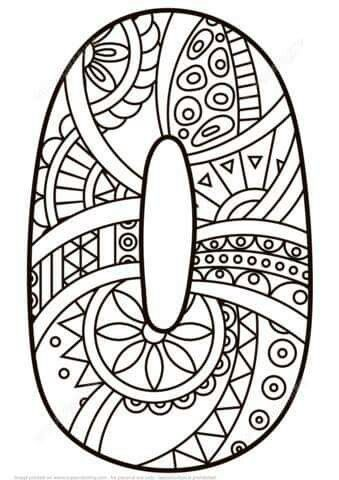 Sibel Parmaksiz Tarafindan 0 Rakami Panosundaki Fikir Mandala