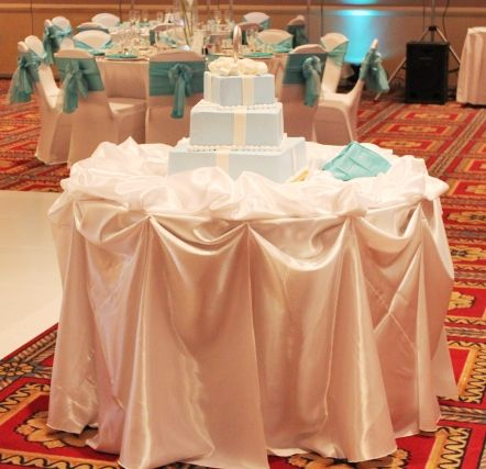 Chicago Cake Table Decoration Wedding Black Blue Brown Ceremony Chair Covers Rental