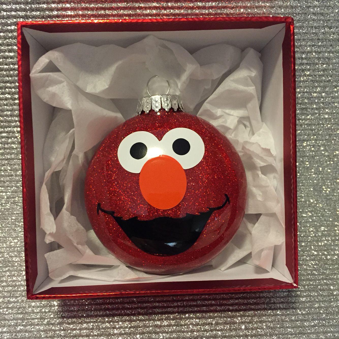 Elmo Ornament His Face Was Cutout Of Vinyl Using A Cricut