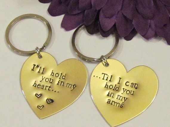 Love quote heart keychains brass boyfriend for Cute things to give your boyfriend just because