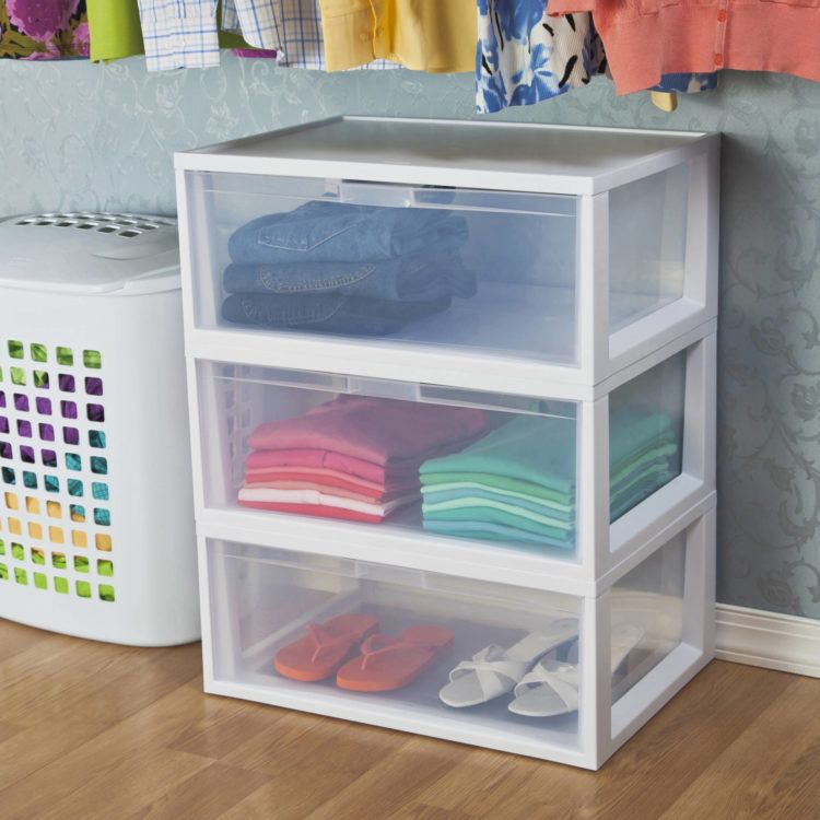 10 Alternatives To Dressers In Your Bedroom Sterilite Dresser Alternative Storage Drawers