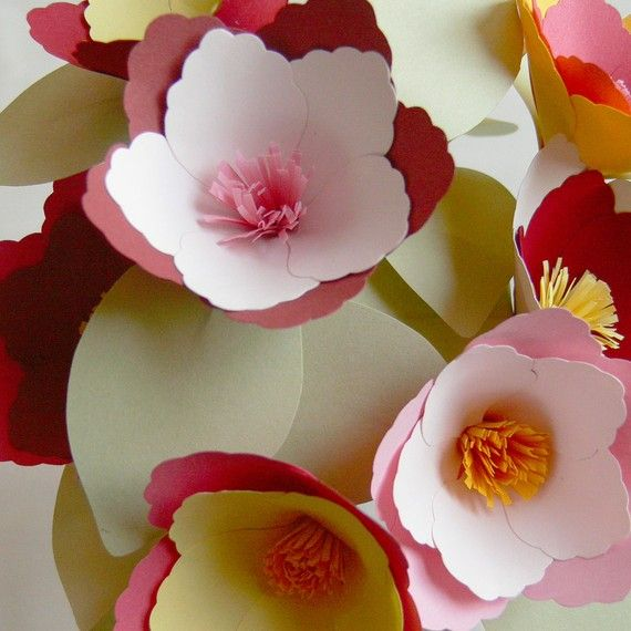 Custom Color Miniature Magnolias Set Of 9 Paper Flowers Paper