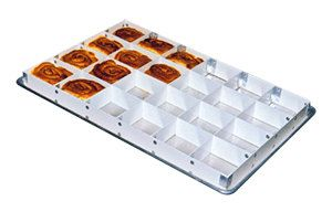 Mfg Tray 176223 1537 2 High 24 Section Full Size Fiberglass Sheet Pan Extender Cake Pans Sweet Roll Tray
