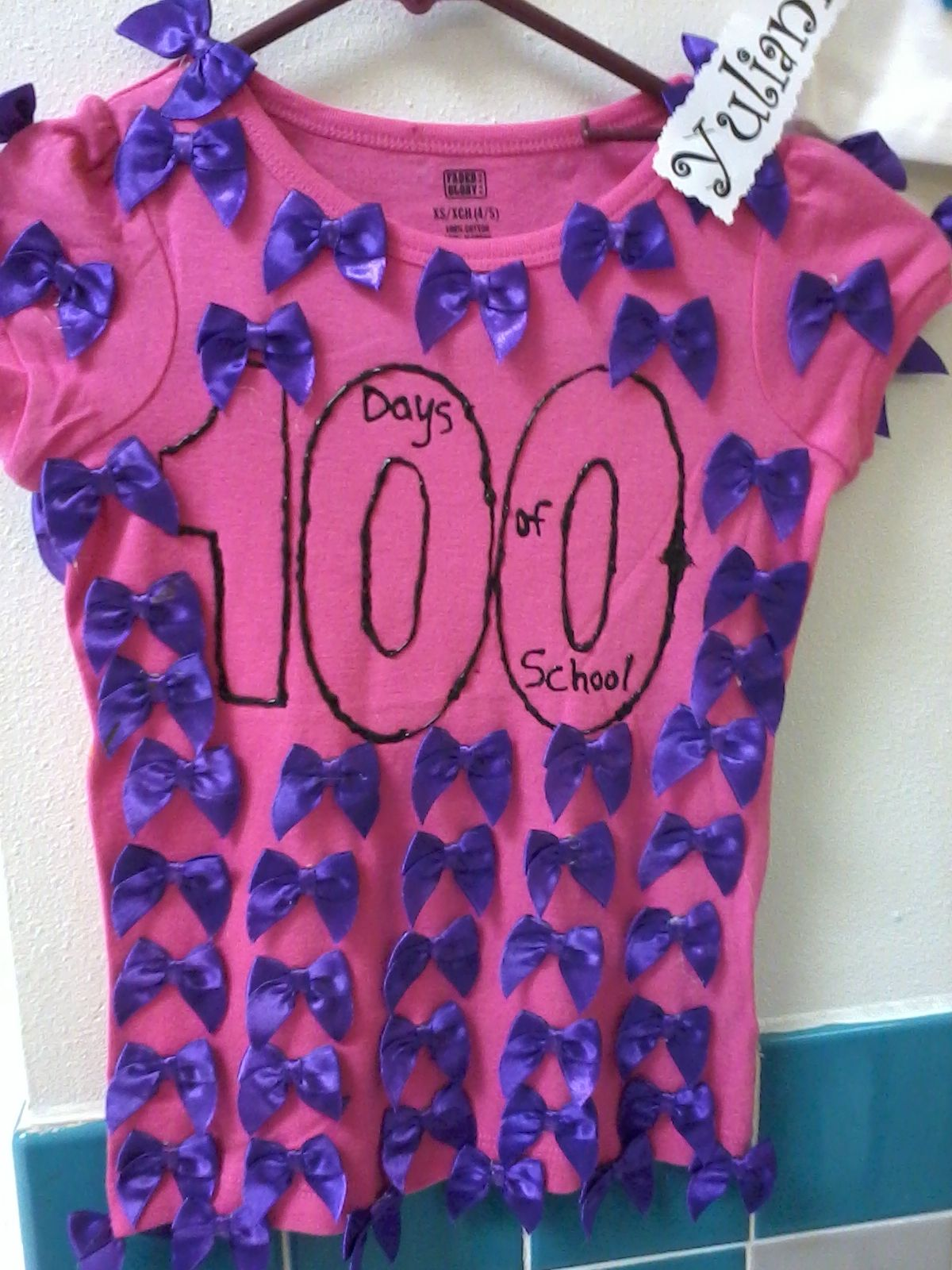100th day of school all the kids brought a t shirt from