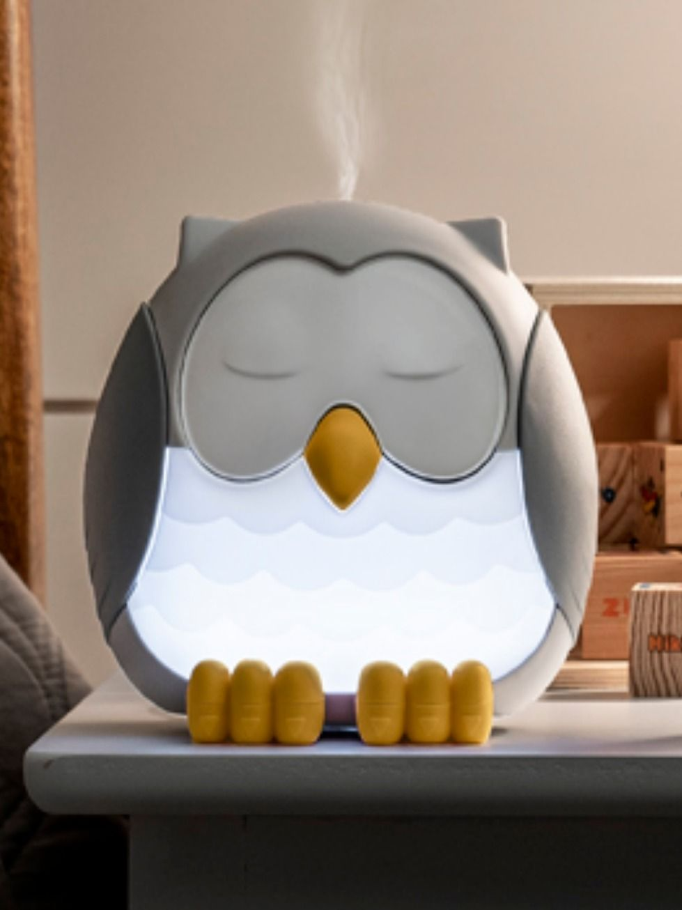 Feather The Owl Diffuser Young Living Diffuser White