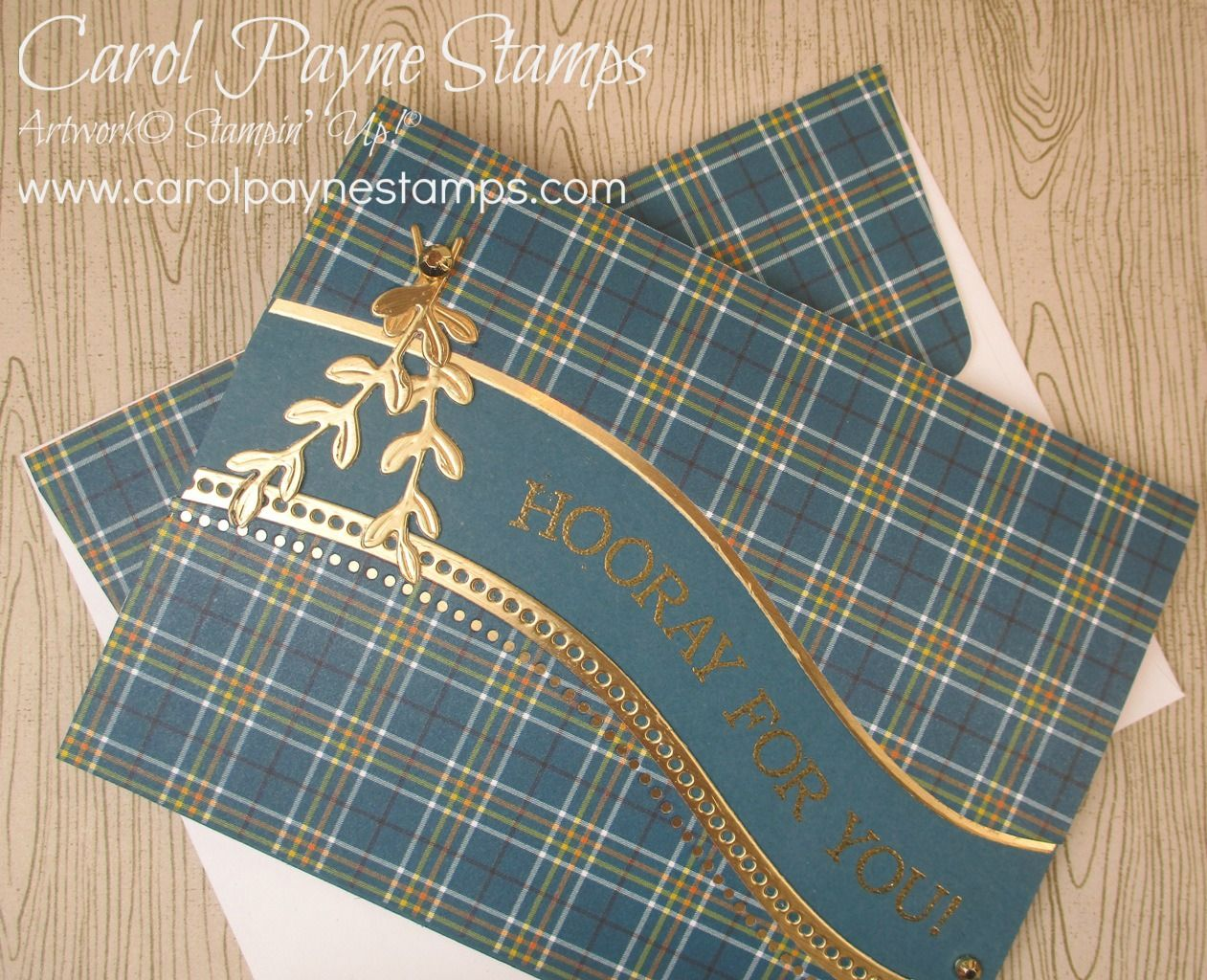 Stampin' Up! Plaid Tidings and Quite Curvy Bundle!