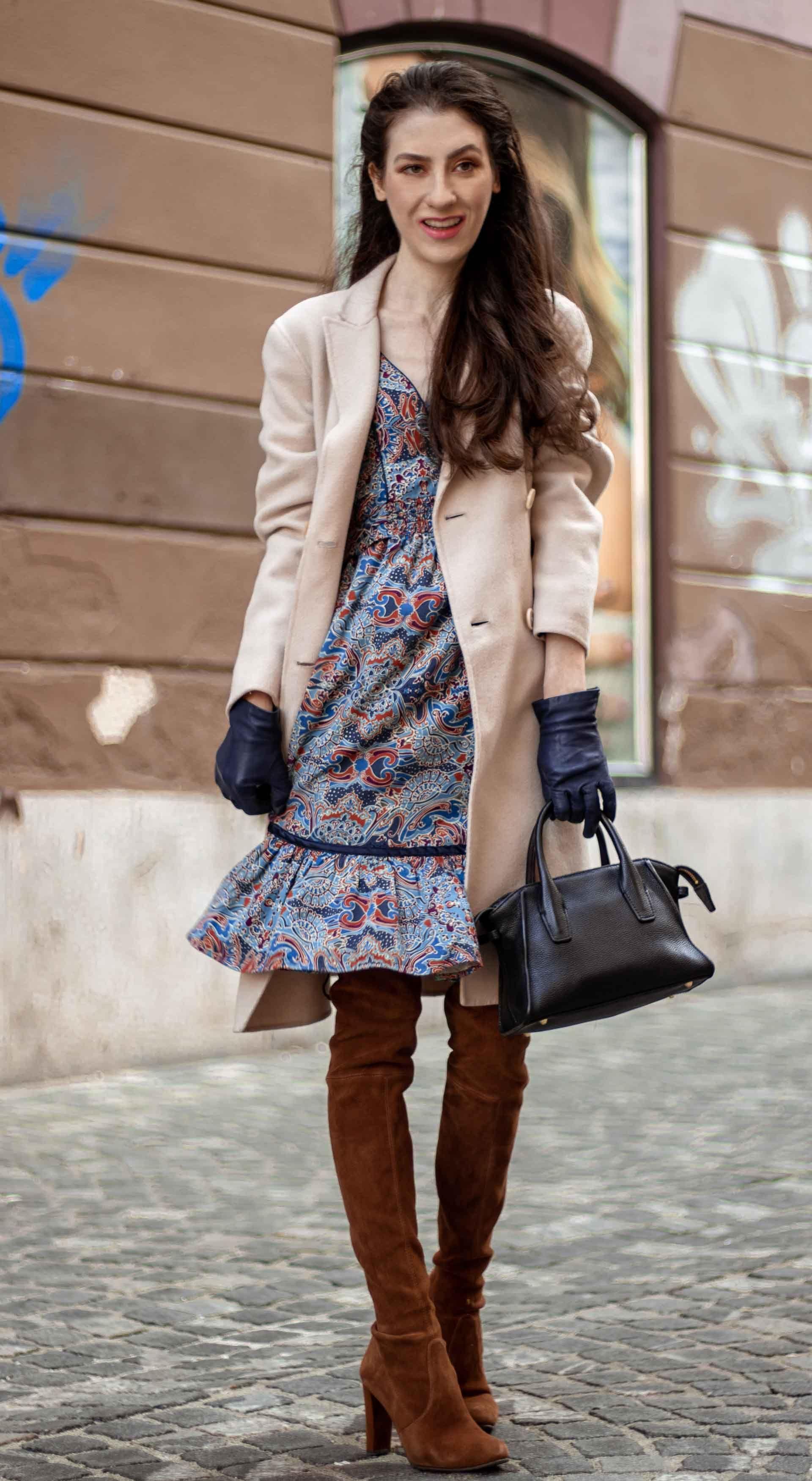 de411b4f5df Must follow fashion blogger Veronika Lipar of Brunette from Wall Street  dressed in blue boho dress