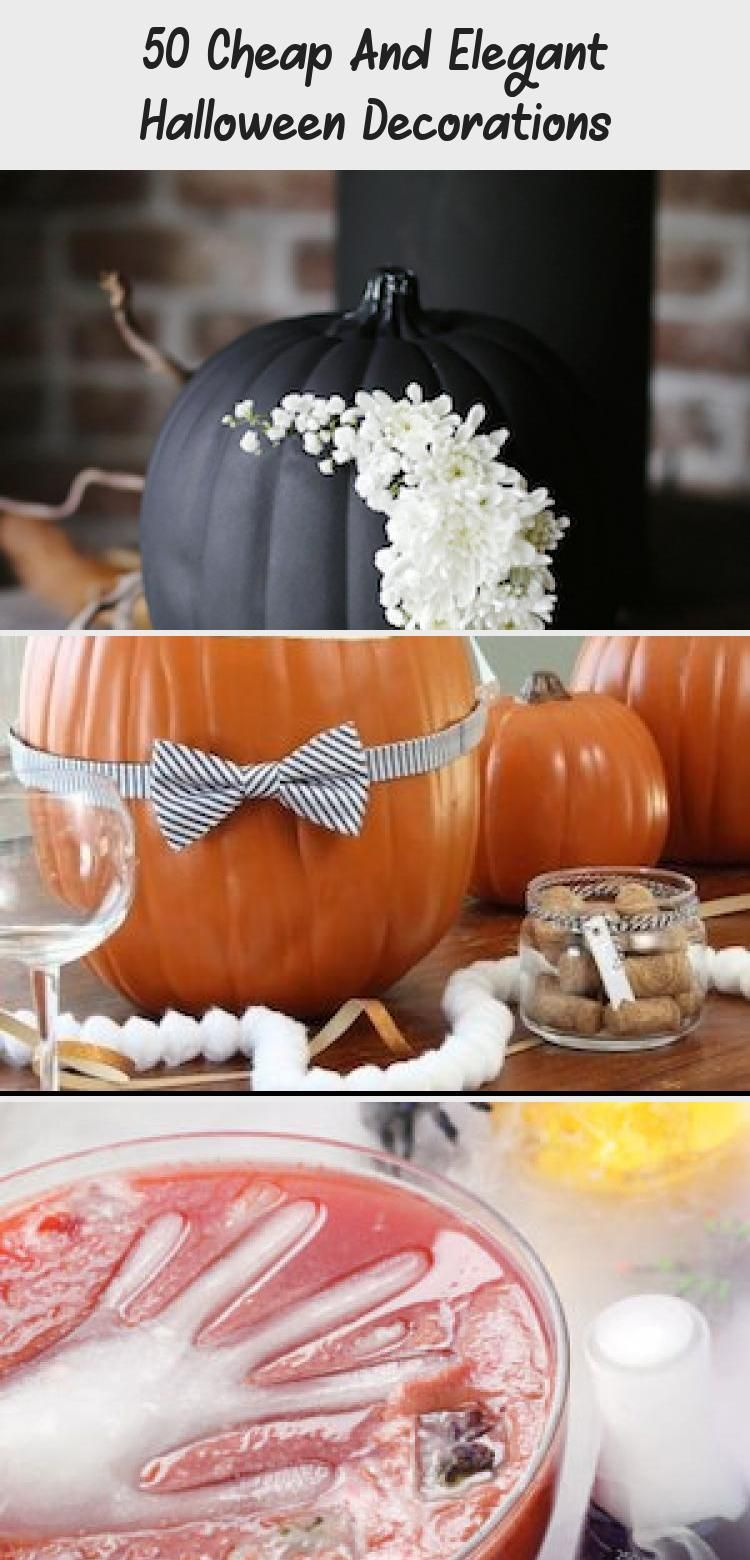 50 Cheap And Elegant Halloween Decorations - Bilgi Tahtası #eleganthalloweendecor 50 DIY Cheap and Elegant Halloween Decorations #halloween #halloweendecorations #halloweendecor #diy #fall #halloweendiy #Winterdiydecor #diydecorHome #diydecorBirthday #diydecorQuarto #diydecorEvent #eleganthalloweendecor