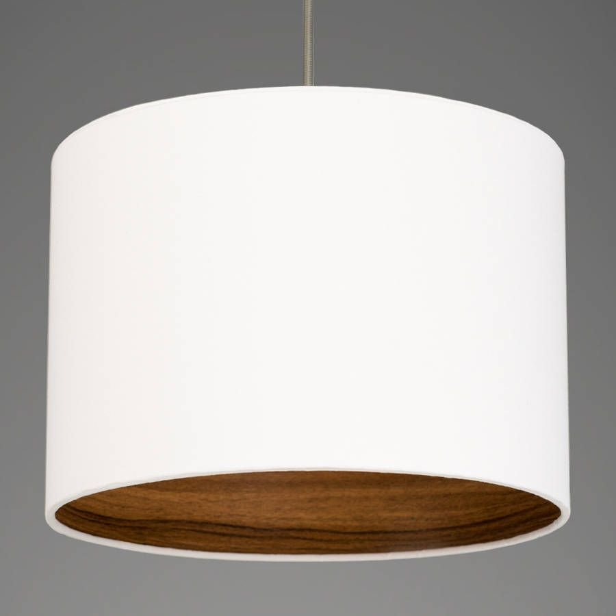 Walnut Wood Effect Lamp Shade Choice Of Colours