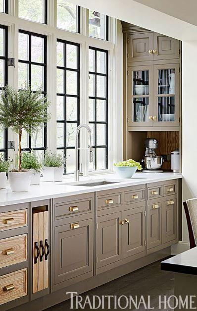 Greige Kitchens #greykitcheninterior