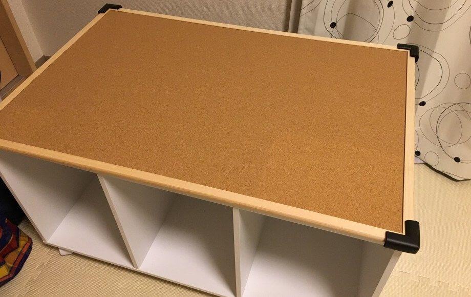 簡単 費用5000円 カラーボックスプレイテーブル作成方法 これはイイ 手順書サイト プレイテーブル おもちゃ 収納 カラーボックス インテリア 収納