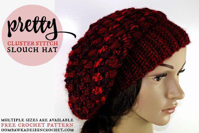 Slouchy Crochet Hat Patterns to Keep Warm and Fancy | Tejida ...