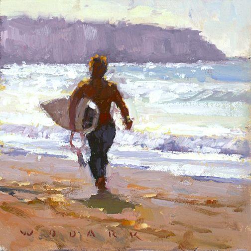 Surfs Up by Jim Wodark Oil ~ 6 x 6