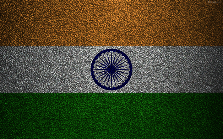 Download wallpapers flag of india 4k leather texture indian flag asia world flags india - Indian flag 4k wallpaper ...