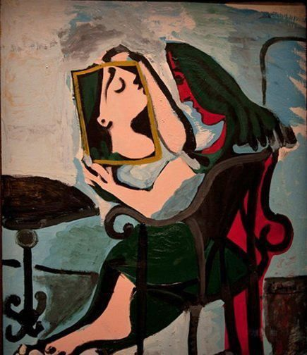 Pablo Picasso - Woman at the Mirror, 1959 | Pablo picasso ...