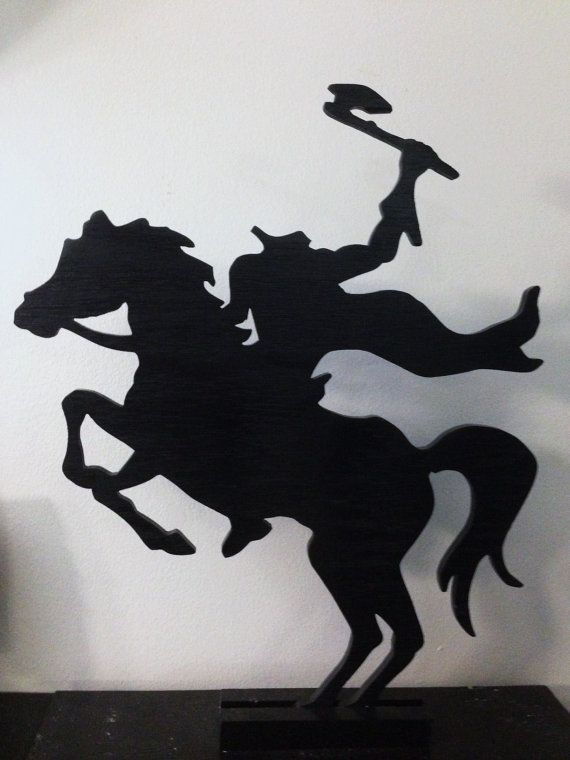 Headless Horseman Silhouette Made of Wood by CountryWoodworkinGuy