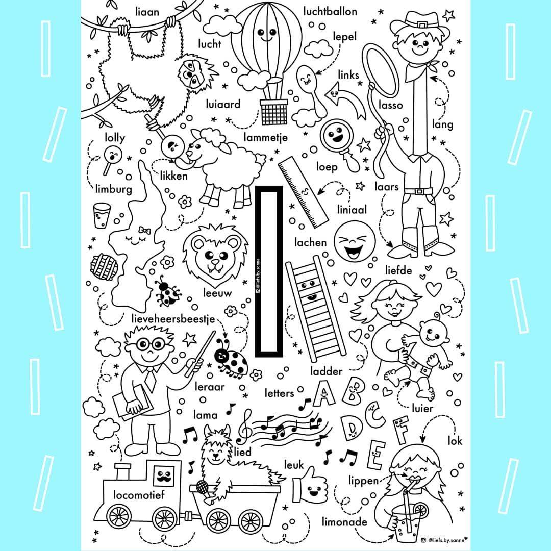 Sanne Anneveldt On Instagram De L Van Liefs By Sanne Als Je Mijn Kleurplaten Gebruikt Zou Ik Het Leuk Vinden Als Je Alfabet Boek Alfabet Kleurplaten Lezen