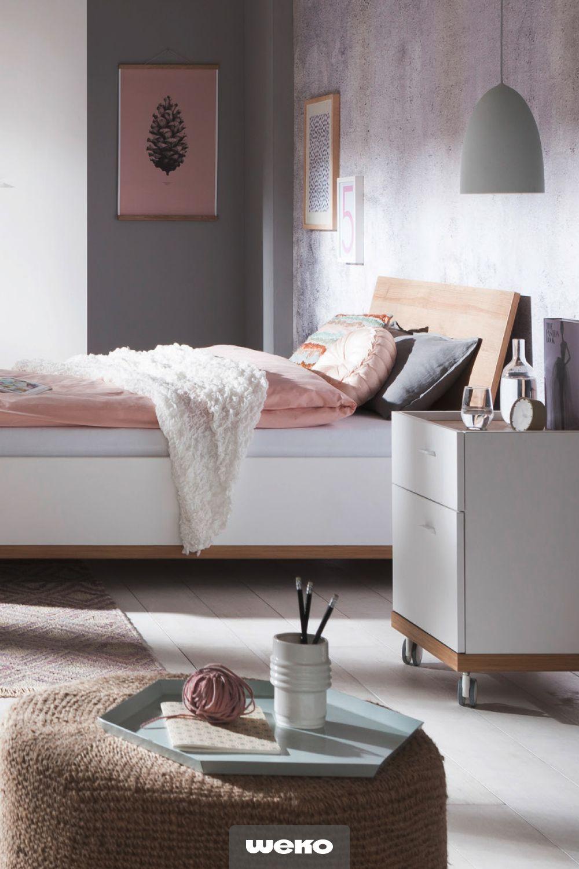 Jugendzimmer in Weiß und Eiche Riviera Nachbildung ...