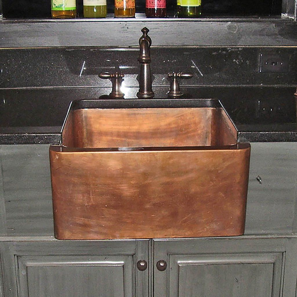 Apron Copper Kitchen Sink Designing For Small Space