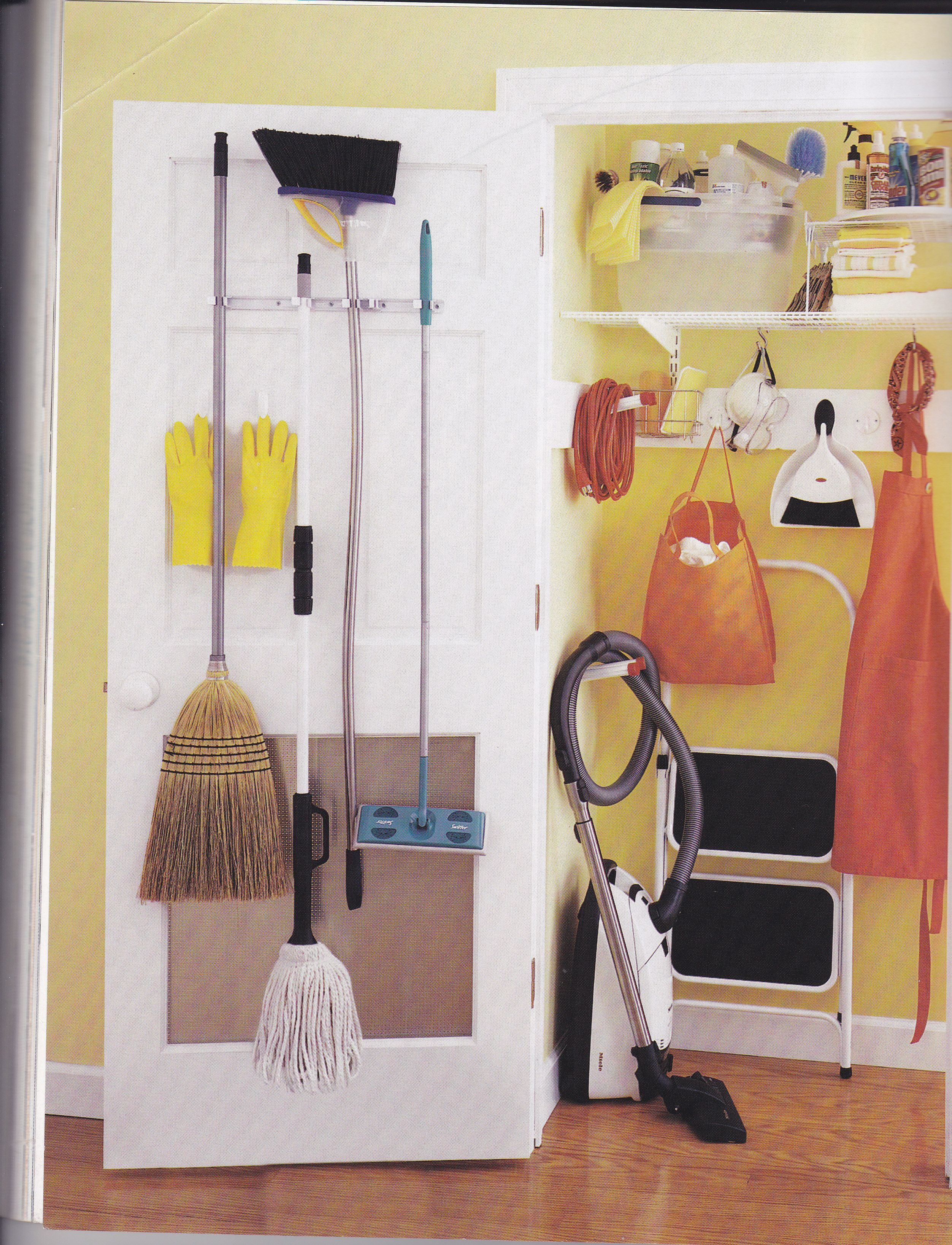 Broom Closet Cleaning Supplies Organization Cleaning Closet