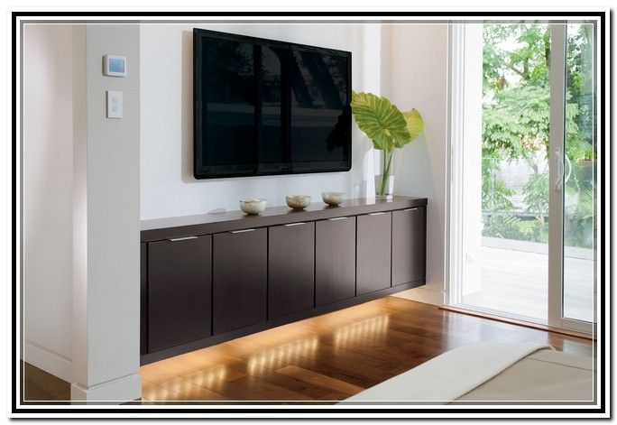 Wall Mounted Entertainment Center Media Console Tv Stand Floating Cabinet  Shelf