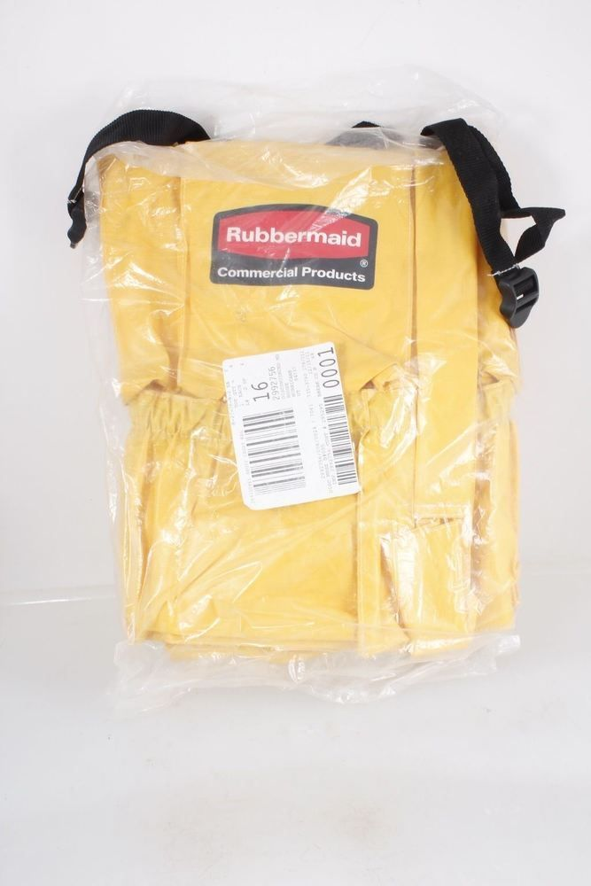 Rubbermaid Commercial Products Yellow Brute Caddy Bag &1 Bandit Can ...