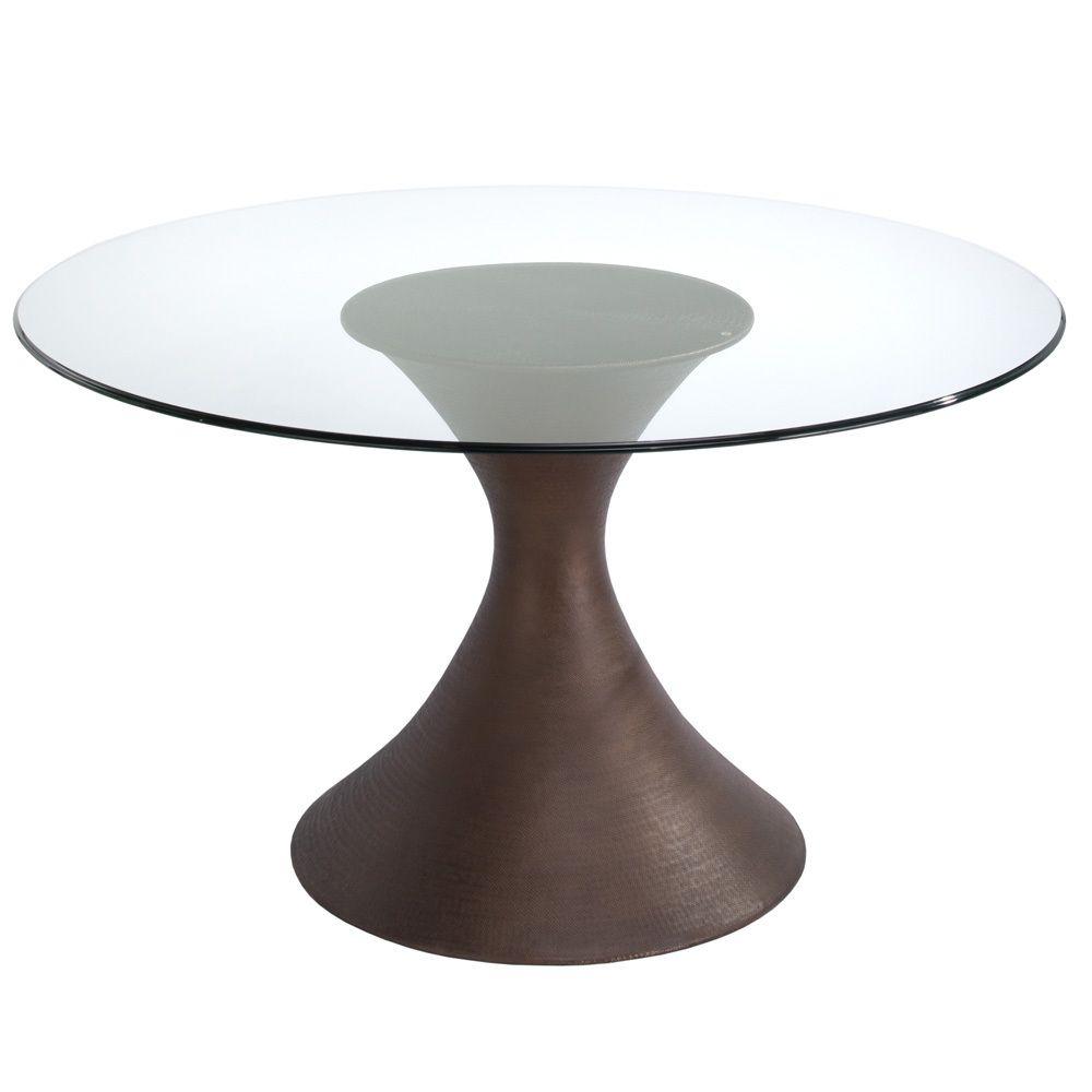 Rotunda Foyer Table Glass Round Dining Table Glass Dining Table Dining Table Bases