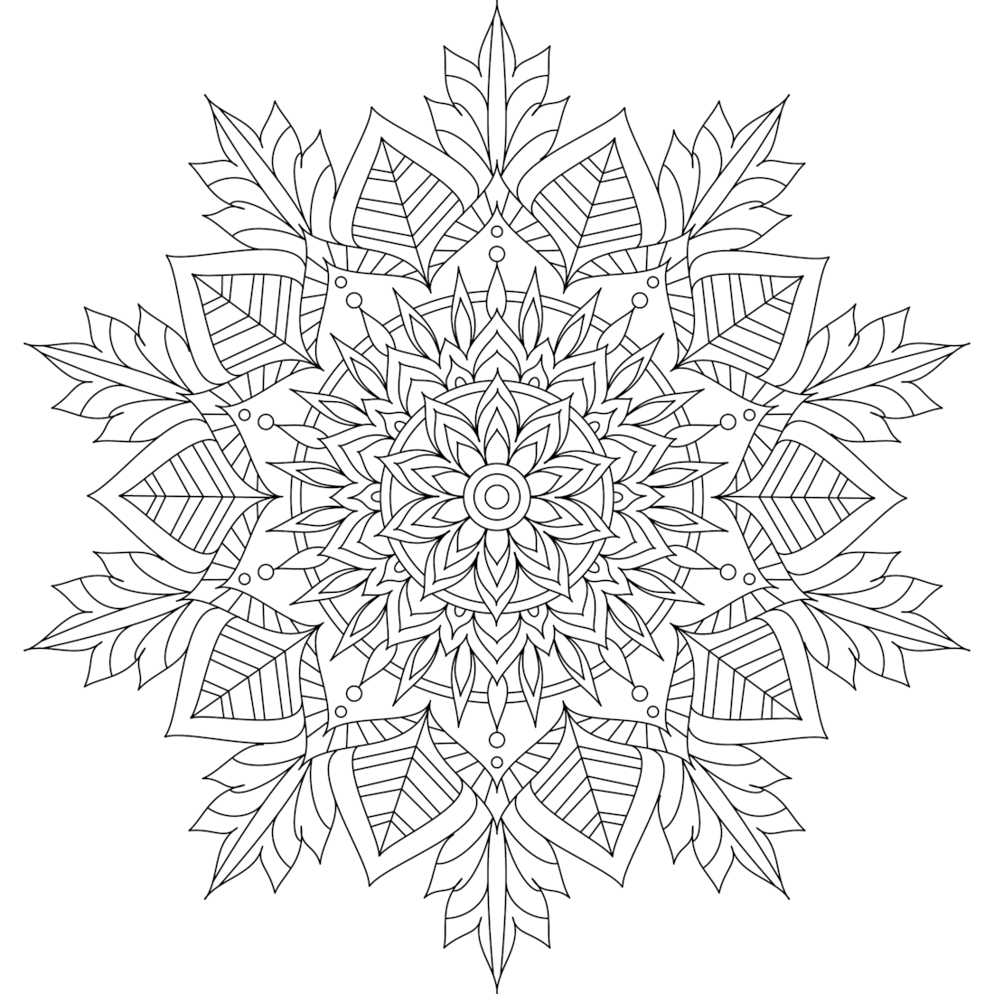 Winter Soul Coloring Page Mandala coloring pages