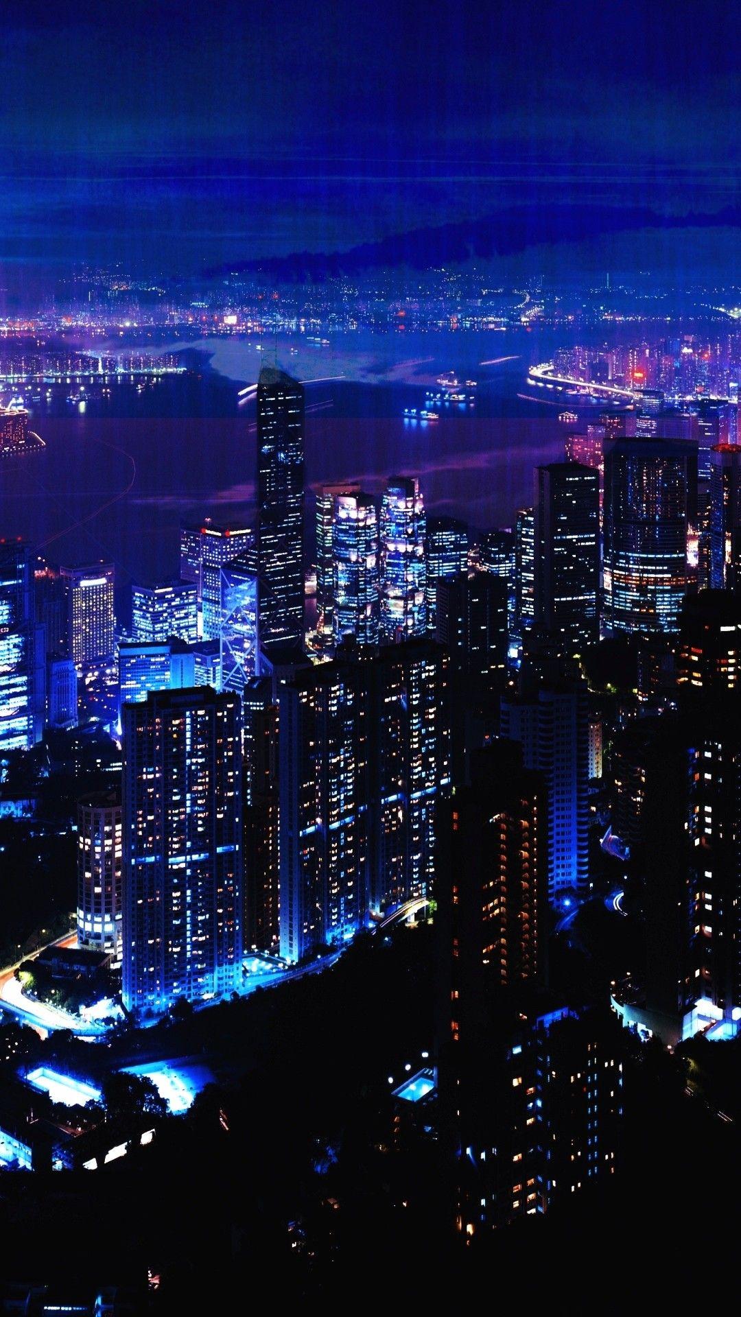 夜景 街の明かり 風景 壁紙