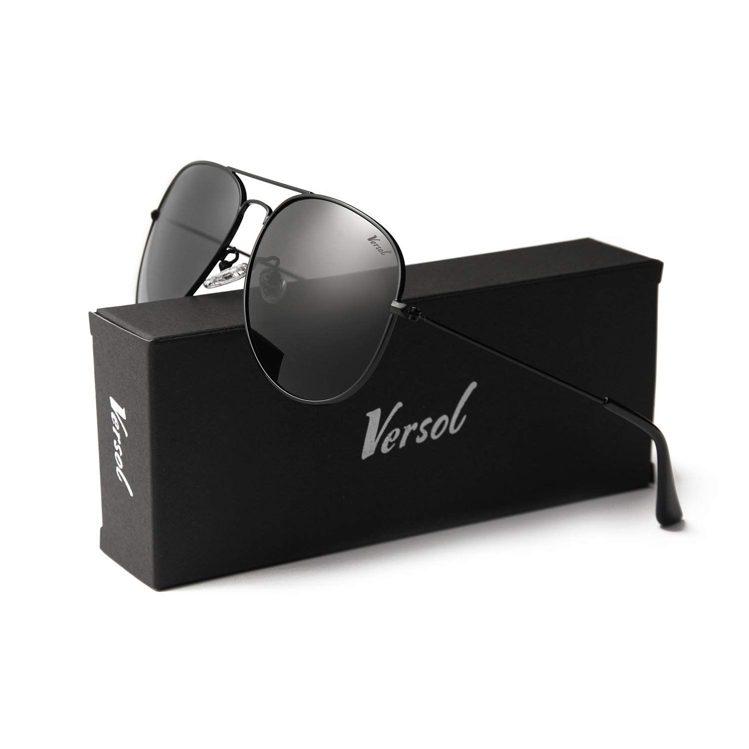 a295c48028f55 Versol Aviator Sunglasses for Men Women Polarized Metal Frame and UV 400  Protection 60mm - Premium