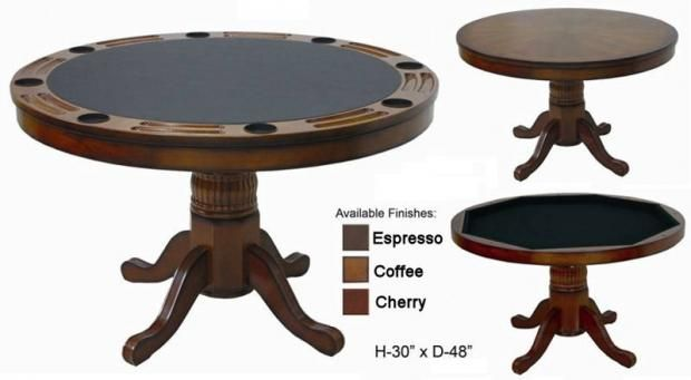 Poker Table 2 In 1 Reversible Top Round Poker Table Poker Table