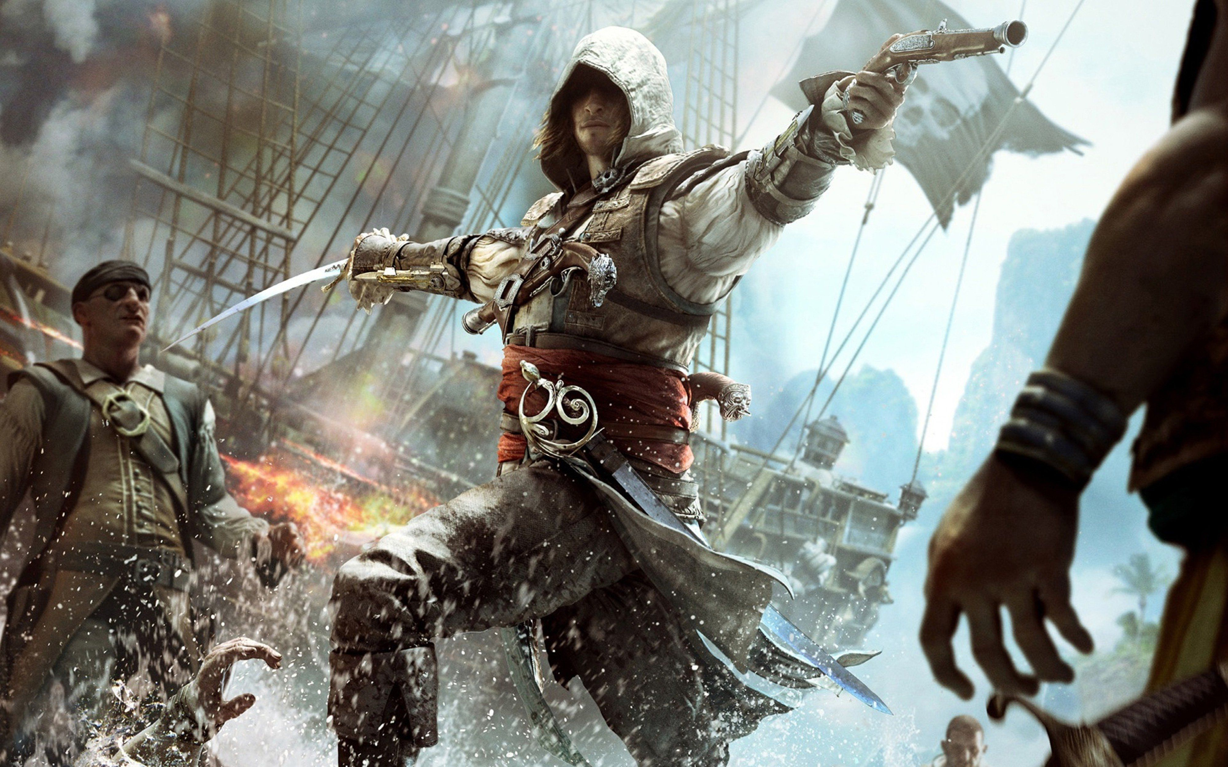 Assassin S Creed Attack Download Hd Wallpapers Of Aassassins Creed 4 Attack Pirate Ship Assassin S Creed Black Assassins Creed Black Flag Assassins Creed 4