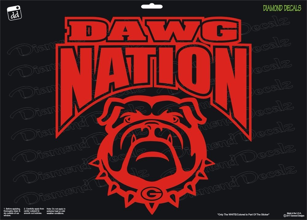 Details About Georgia Bulldogs Dawg Nation Vinyl Decal Uga Car