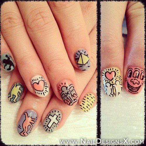 Mixed Nail 1 Design Nail Designs Nail Art Pinterest Designs