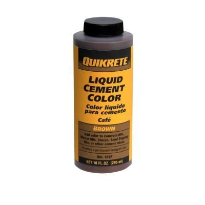 Quikrete 10 Oz Liquid Cement Brown 131701 The Home Depot Cement Color Cement Charcoal Color