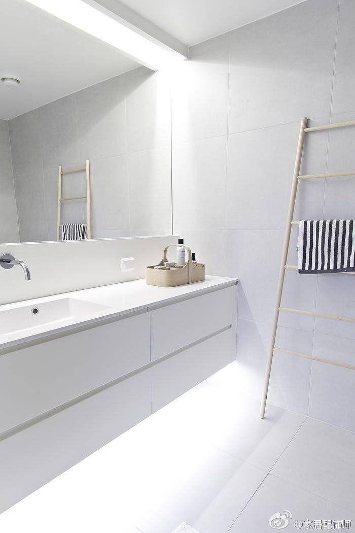 sober en strak en mooie verlichting - Badkamer | Pinterest ...