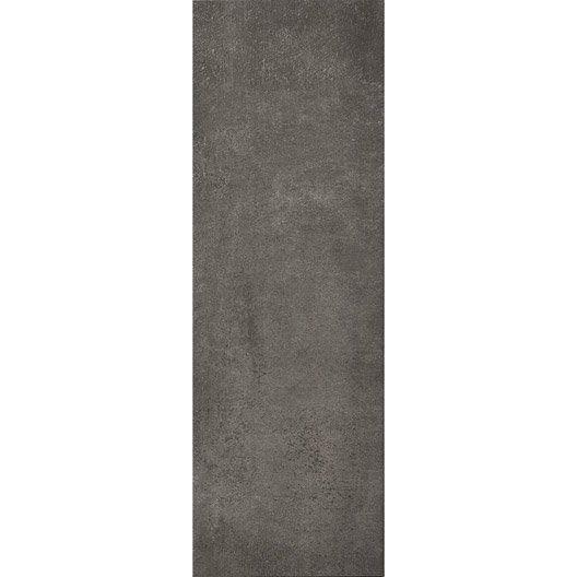 Carrelage mural vision artens en fa ence gris fonc 25 x for Carrelage gris fonce
