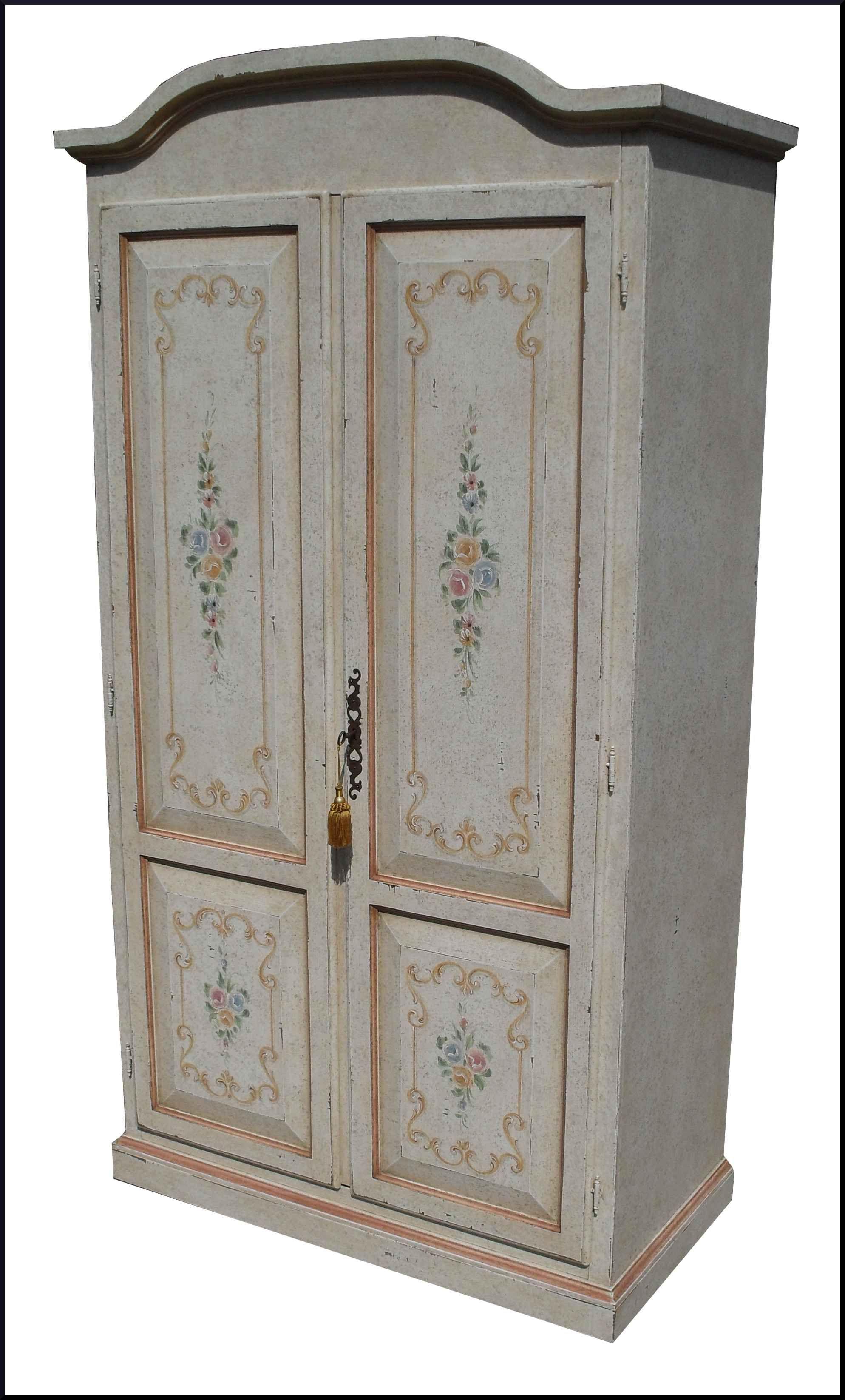 Armadio a due ante decorato in stile provenzale mobili dipinti a mano pinterest - Stile provenzale mobili ...