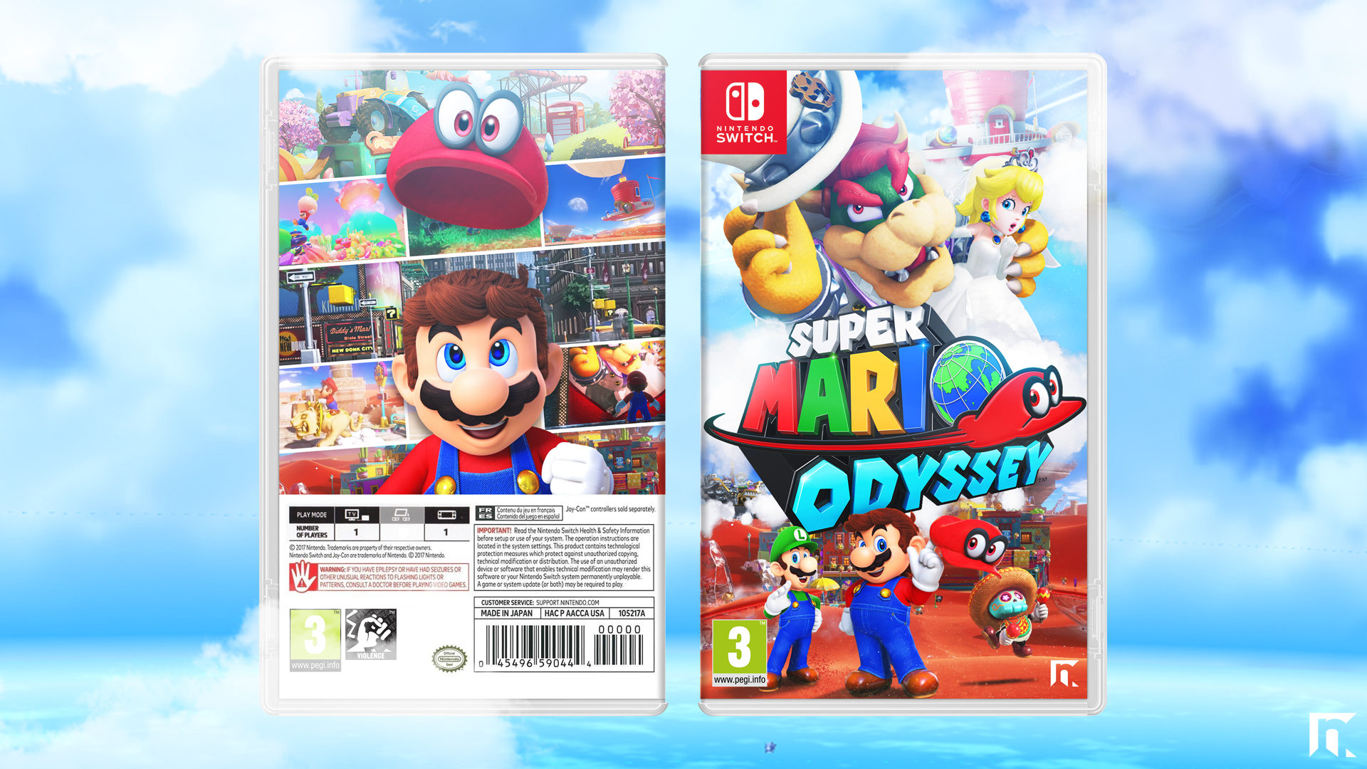 Super Mario Odyssey Misc Box Art Cover by RobertNGraphics | Super