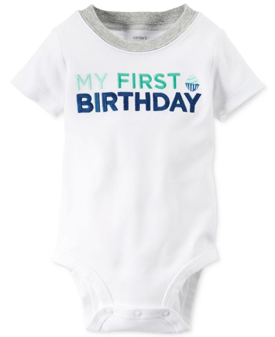 Carters Baby Boys Short Sleeve My First Birthday Bodysuit